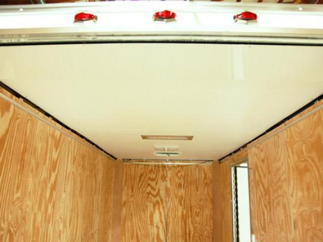 White Vinyl Ceiling, Interior, Walls, Ceiling, Custom Trailer, Options