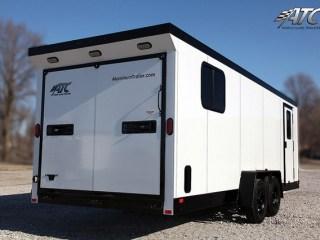 Custom Trailers, Car Hauler, Sport, Snowmobile, White, with Black Stoneguard